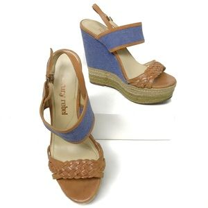 Luxury Rebel Nia Platform Wedge Sandals Espadrille